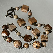 Украшения handmade. Livemaster - original item Necklace-choker with landscape Jasper. Handmade.