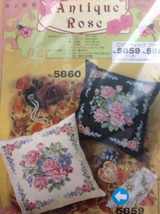 Вышивка ручной работы. Ярмарка Мастеров - ручная работа. Купить Набор для вышивания подушки Olympus (Япония). Handmade. Набор для творчества