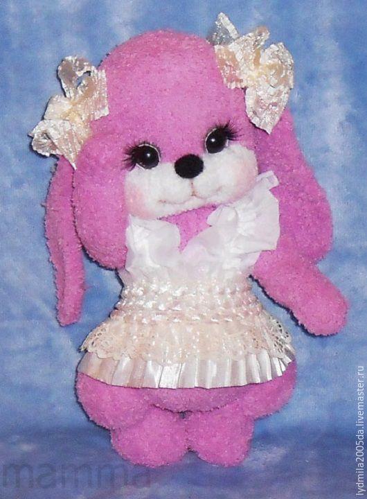 """Игрушки животные, ручной работы. Ярмарка Мастеров - ручная работа. Купить зайка """"Лялька"""". Handmade. Розовый, тедди, подарок девушке"""