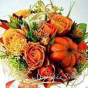 """Цветы и флористика ручной работы. Ярмарка Мастеров - ручная работа Букет из конфет """"Оранжевое настроение"""". Handmade."""