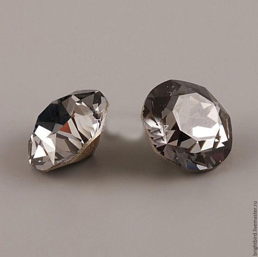 Для украшений ручной работы. Ярмарка Мастеров - ручная работа. Купить Большой 13мм шатон 1200 ДЕНТЛЕ цвет Black Diamond. Handmade.