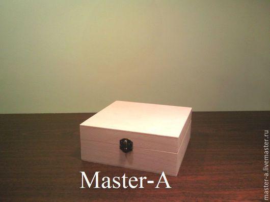 Шкатулка 15 х 15 х 7,5см - заготовка для декупажа
