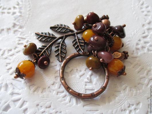 """Брелоки ручной работы. Ярмарка Мастеров - ручная работа. Купить Брелок для сумки или ключей """"Осенний день"""". Handmade. Разноцветный"""