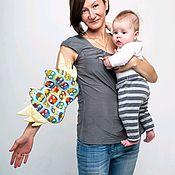 Комплекты одежды ручной работы. Ярмарка Мастеров - ручная работа Милк-Подушка для кормления и укачивания ребенка Совы на синем. Handmade.