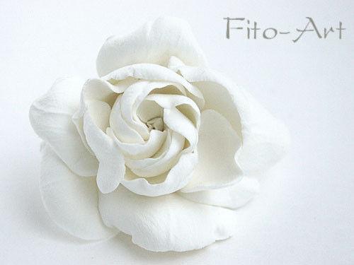 Свадебные украшения ручной работы. Ярмарка Мастеров - ручная работа. Купить Цветок белой гардении. Handmade. Свадебные аксессуары, цветы