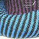 Шарфы и шарфики ручной работы. Заказать Шарф мужской из экопряжи, сине-черный. Семейное ателье ,,Петровская эпоха,. Ярмарка Мастеров.