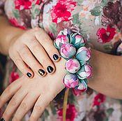 Цветы ручной работы. Ярмарка Мастеров - ручная работа Серьги с пионами `Нежный аромат цветы из шелка браслет комплект. Handmade.