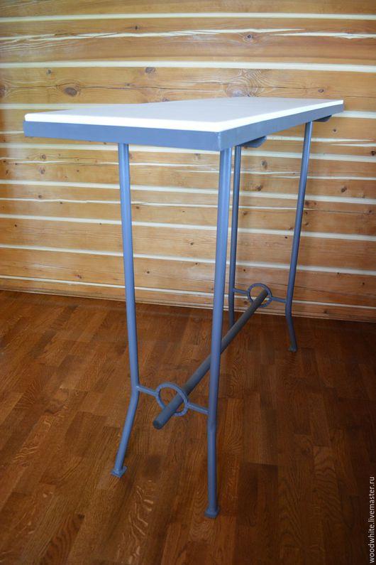 """Мебель ручной работы. Ярмарка Мастеров - ручная работа. Купить Барный металлический стол """"Курт"""". Handmade. Комбинированный, стол из металла"""