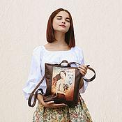 """Сумки и аксессуары ручной работы. Ярмарка Мастеров - ручная работа Кожаный рюкзак """"Free heart"""". Handmade."""