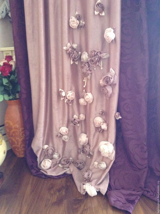 Текстиль, ковры ручной работы. Ярмарка Мастеров - ручная работа. Купить Комплект для девочки Лиловый с розами. Handmade. Фиолетовый