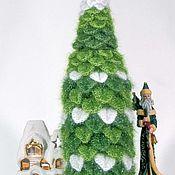 handmade. Livemaster - original item Christmas gift decoration bottle cover knitted Christmas Tree. Handmade.