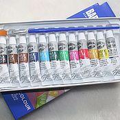 Материалы для творчества ручной работы. Ярмарка Мастеров - ручная работа Акриловые краски набор 12 цветов. Handmade.