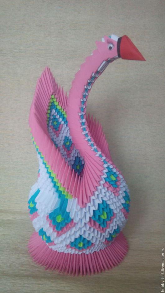 Персональные подарки ручной работы. Ярмарка Мастеров - ручная работа. Купить Лебедь цветной. Handmade. Комбинированный, подарок