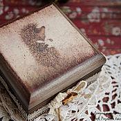 Подарки к праздникам ручной работы. Ярмарка Мастеров - ручная работа Наивный ёжик (ёжик в тумане) маленькая шкатулка для украшений. Handmade.