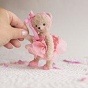 """Куклы и игрушки ручной работы. Ярмарка Мастеров - ручная работа мини Мишка Тедди. из серии """"Розовое настроение"""" (12см). Handmade."""