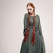 """Одежда ручной работы. Ярмарка Мастеров - ручная работа Платье - лён """"Красота простых линий"""". Handmade."""