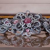 """Украшения ручной работы. Ярмарка Мастеров - ручная работа Заколка для волос """"Pink &Grey"""". Handmade."""