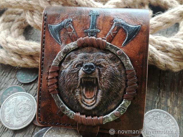 Портмоне (кошелек, бумажник) двойного сложения (Bi-fold wallet) № 43, Кошельки, Ковров,  Фото №1