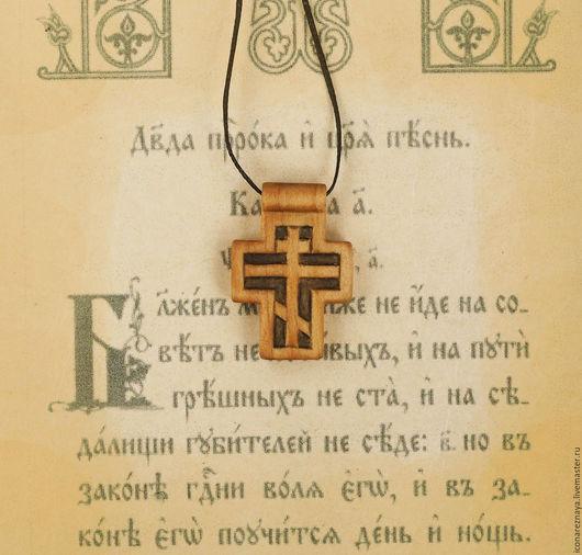 `Патерик` - деревянный нательный крест из кипариса. Крест из дерева. Крест без распятия.