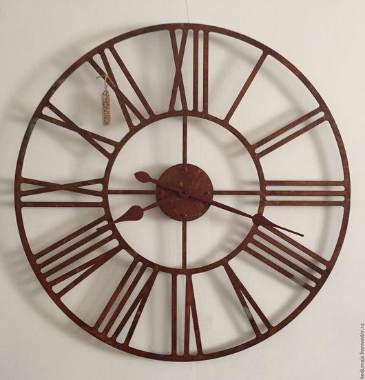 """Часы для дома ручной работы. Ярмарка Мастеров - ручная работа. Купить Часы 80см с ржавчиной """"Rooma-rooste"""". Handmade."""