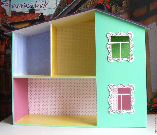 Кукольный дом ручной работы. Ярмарка Мастеров - ручная работа. Купить Кукольный домик без мебели и аксессуаров. Handmade. Фиолетовый