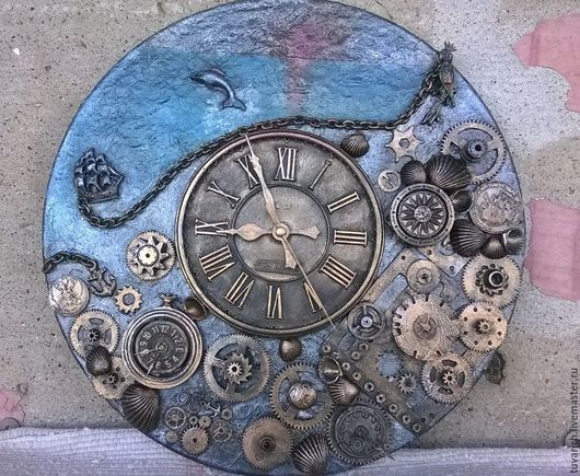 Часы в стиле стимпанк (steampunk) - Море. Мастер-Тувина Ольга, tuva-rich