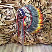 Одежда ручной работы. Ярмарка Мастеров - ручная работа Индейский головной убор - Огненная Птица. Handmade.
