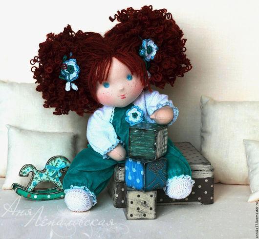 Вальдорфская игрушка ручной работы. Ярмарка Мастеров - ручная работа. Купить Рисальдинка Стешенька. Handmade. Морская волна, крупяная кукла