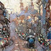 Картины и панно ручной работы. Ярмарка Мастеров - ручная работа Холст, масло, размер 50х40см,Амстердам. Handmade.