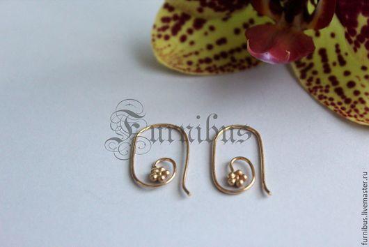 Для украшений ручной работы. Ярмарка Мастеров - ручная работа. Купить Швензы для сережек, серебро и вермейль,Бали 11. Handmade.