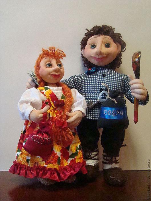 Сказочные персонажи ручной работы. Ярмарка Мастеров - ручная работа. Купить кукла из капрона  Домовой и домовушка  Груша и Гриша. Handmade.