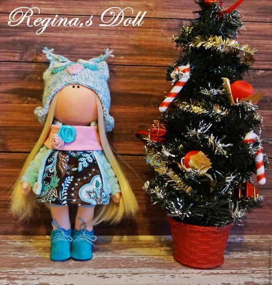 Коллекционные куклы ручной работы. Ярмарка Мастеров - ручная работа. Купить Совушка в бирюзовом. Handmade. Тёмно-бирюзовый, коричневый