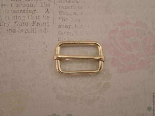Другие виды рукоделия ручной работы. Ярмарка Мастеров - ручная работа. Купить Регулятор ремня 23мм светлое золото. Handmade.