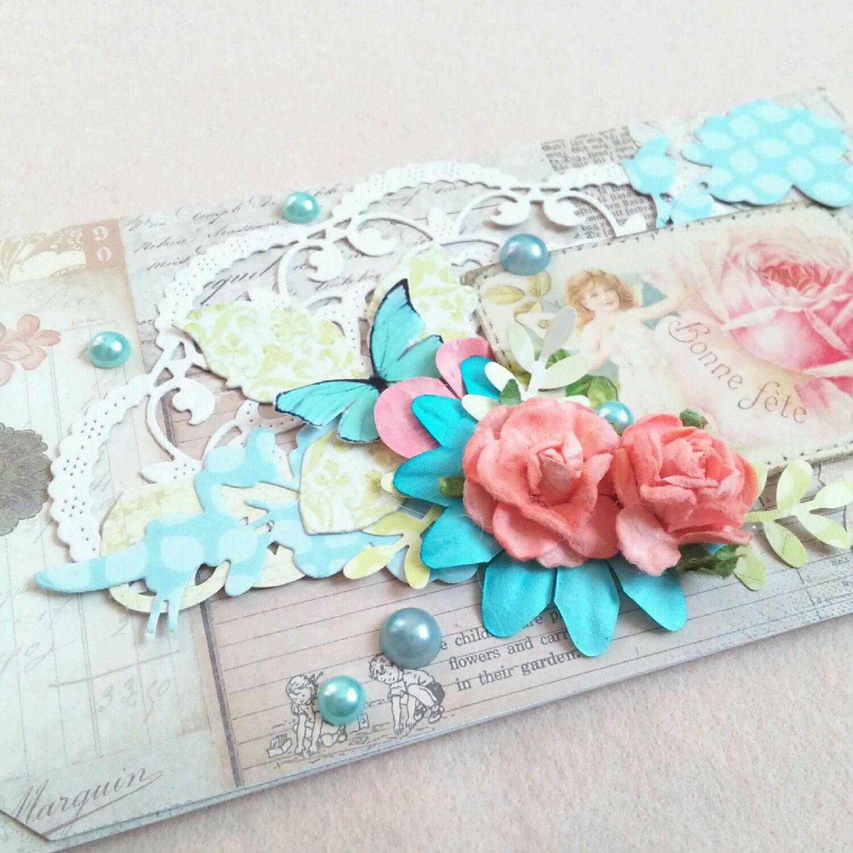 Конверт и открытка скрапбукинг