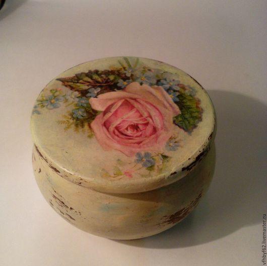 """Шкатулки ручной работы. Ярмарка Мастеров - ручная работа. Купить шкатулка шеби """"Роза"""". Handmade. Салатовый, шкатулка для мелочей"""