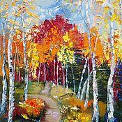 Картины и панно handmade. Livemaster - original item Painting Autumn in the forest. Handmade.