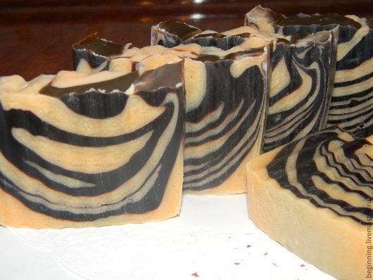 """""""Мандарин в Шоколаде"""" натуральное мыло.Подходит для всех типов кожи.Срок созревания 29.08.2013г"""