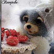 """Куклы и игрушки ручной работы. Ярмарка Мастеров - ручная работа Хранитель """"добра"""" (Мишка и шкатулка). Handmade."""