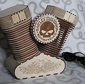 Для дома и интерьера handmade. Livemaster - original item Lamp night light Harley Davidson. Handmade.