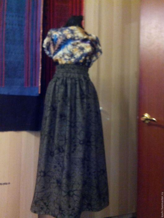 Юбки ручной работы. Ярмарка Мастеров - ручная работа. Купить Длинная юбка на талии. Handmade. Серый, юбка макси