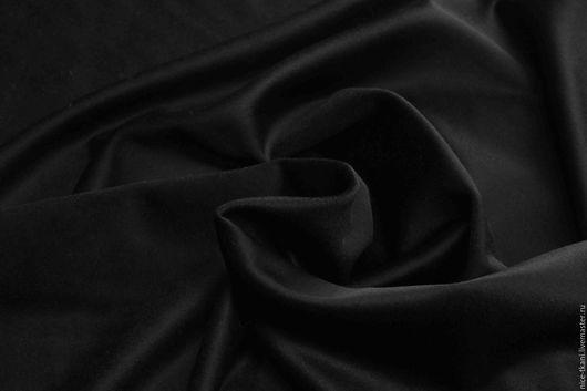 Шитье ручной работы. Ярмарка Мастеров - ручная работа. Купить 11301 итальянский драп с небольшим блеском. Handmade. Черный
