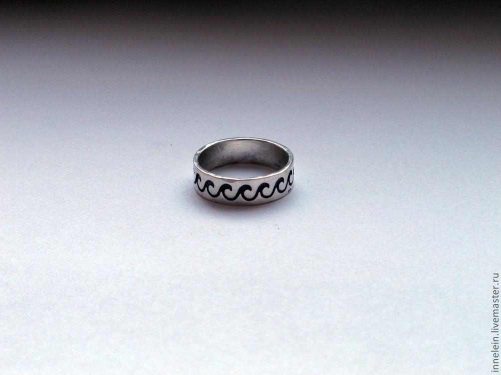 """Кольца ручной работы. Ярмарка Мастеров - ручная работа. Купить Серебряное кольцо """"Волны 2"""". Handmade. Море, серебряное кольцо"""