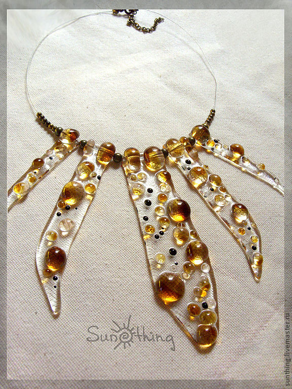 Necklace 'Golden Lily', Necklace, St. Petersburg,  Фото №1