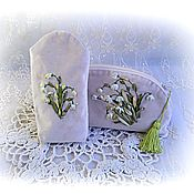 Сумки и аксессуары handmade. Livemaster - original item Set cosmetic Bag and eyeglass case. Handmade.