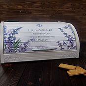 """Для дома и интерьера handmade. Livemaster - original item Хлебница """"La lavande"""". Handmade."""
