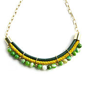 Украшения handmade. Livemaster - original item Green necklace