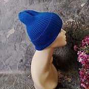 Аксессуары handmade. Livemaster - original item Women`s knitted hat, beanie, pumpkin, wool blend. Handmade.