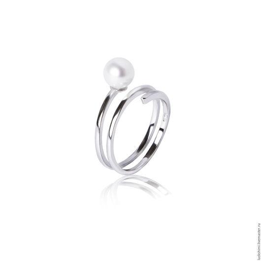 кольцо с жемчугом, кольцо, стильное кольцо