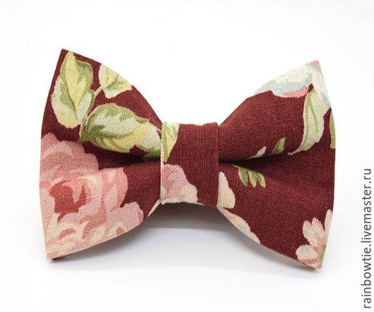 Галстуки, бабочки ручной работы. Ярмарка Мастеров - ручная работа. Купить Галстук бабочка Rozen. Handmade. Бордовый, галстук бабочка