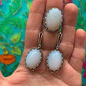 handmade. Livemaster - original item Set with imitation opal and hypoallergenic accessories. RUSSIA.. Handmade.